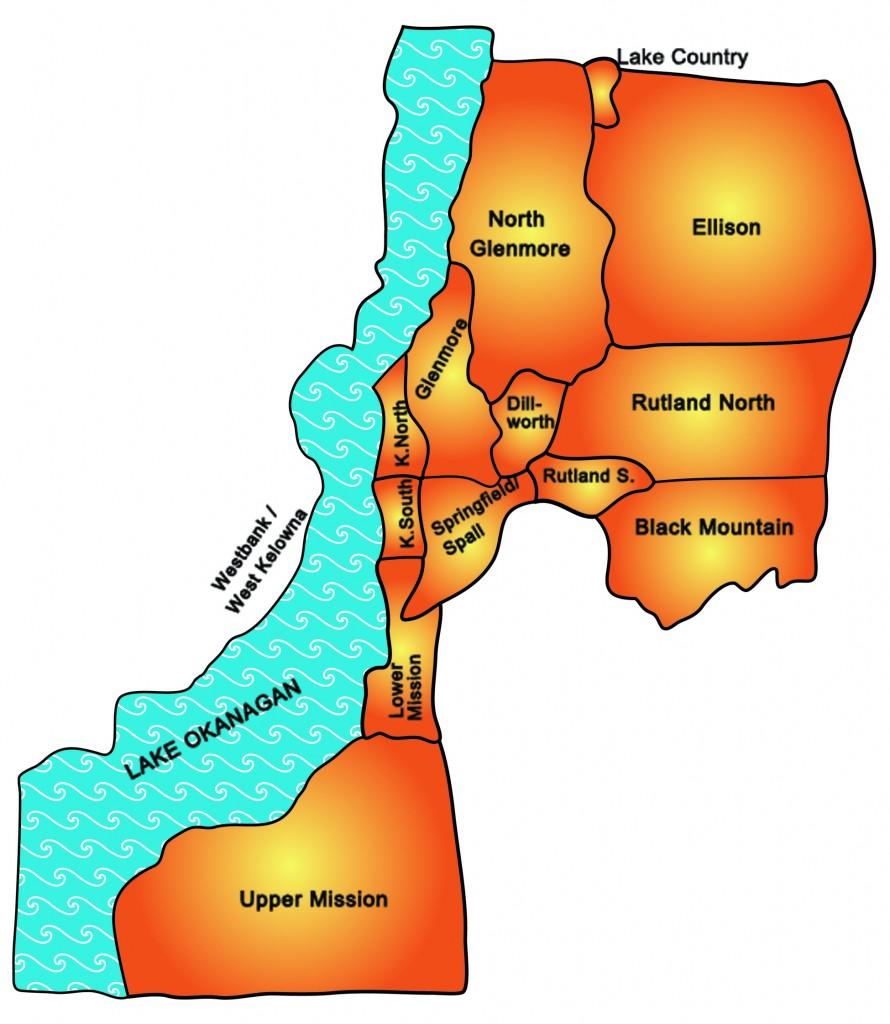 map of kelowna neighborhoods